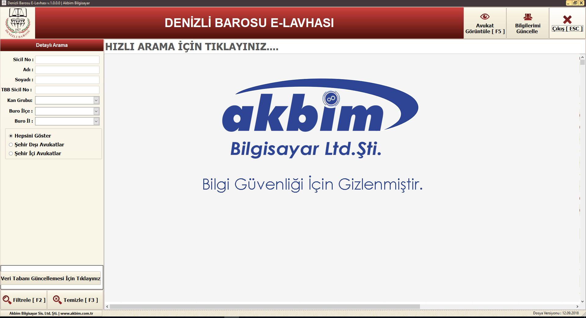 Aydın Barosu E-Levha - Akbim Bilgisayar